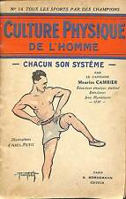 CAPITAINE MAURICE CAMBIER CULTURE PHYSIQYE DESSINS ABEL-PETIT BROCHURE 1937