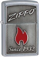 Zippo 29650 Red Flame Street Chrome Windproof Lighter
