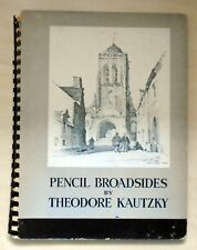 SIGNED Abbott Hoecker (THe Heck) -Pencil Broadsides 1944 By Kautzky Good