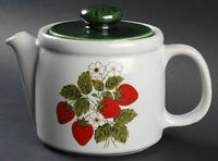 MCCOY, NELSON Large Ceramic Strawberry Country Teapot & Lid