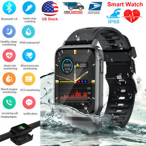 Touch Screen Bluetooth Smart Watch for iPhone Android Fitness Tracker Waterproof