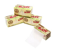 RAW Organic 5m Rolls - Natural Hemp Rips Smoking Chlorine Free Rolling Paper