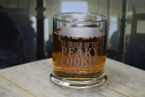 Etched Whiskey glassware By Order Of the Peaky Fookin Blinders Great Gifts 12 Oz