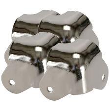 Four Pack Penn-Elcom C1819N Metal Steel Cabinet Corner Nickel Lipped WrapAround