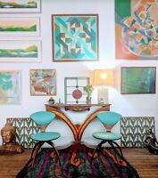 PAIR gorgeous vintage NORMAN CHERNER Plycraft Chairs swivel mcm Bauhaus Art Deco