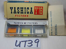 VINTAGE YASHICA Y16 SPY CAMERA FILTER SET IN BOX UV-Y2-O2 MADE IN JAPAN RARE