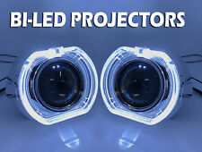"""2x 3"""" Completo Bi-Led Retrofit Proyectores Lente H1 H7 H4 Halo Cubierta"""