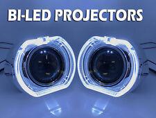 "2 x 3"" Full Bi-LED Retrofit Projectors Lens H1 H7 H4 Halo Shroud Xenon HID White"