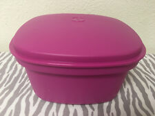 """Tupperware Microwave Steamer 3 Piece Square 9"""" x 9"""" Microwaveable Pink New"""