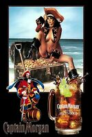 Captain Pinup Girl Man Cave DECOR SIGN 4x6 magnet Fridge REFRIGERATOR Bar