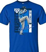 Los Angeles Dodgers MLBPA CLAYTON KERSHAW #22 Colorblock Youth Boys T Shirt Blue