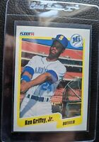 1990 FLEER #513 KEN GRIFFEY JR 2ND YEAR SEATTLE MARINERS HOF