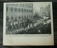 AD) Blatt Beisetzung Prinz Arnulf v Bayern 1907 München Leichenwagen Luitpold ++