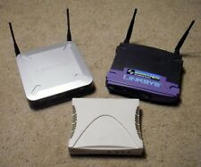 Lot of 2 Linksys Wireless Routers & Westell Wirespeed DSL Modem Wireless G