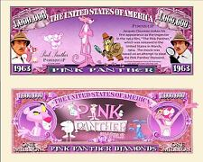 Pink Panther Novelty Dollar Bill With Semi Rigid Protector & Free Shipping