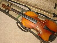 """Nicely flamed old Violin NR """"Meinel & Herold Klingenthal"""" violon"""