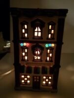 Vintage NOMA Dickensville St Anthony Hotel Lighted Christmas House #6269