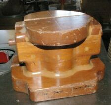Natural wood Wood 2 piece pattern Foundry Casting Mold 4 pounds Neat Look