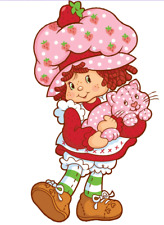 Strawberry Shortcake Iron On Transfer Light or Dark Fabrics 5 x 7 Size