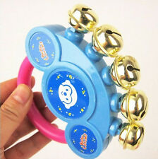 New Best Hand Shaking Bells Rattle Handbell Musical Baby Educational Toys