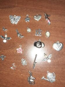 Craftroom Clearout - Bundle 20 Assorted Jewellery making Tibetan silver Charms