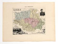 Gers, carte Migeon (XIXe siècle). Maréchal Lannes. Auch. Dressée par Vuillemin.
