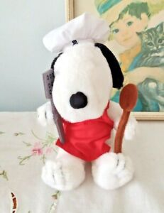 Vintage Snoopy Chef Plush Soft Toy Charles Schulz Peanuts Charlie Brown Beagle