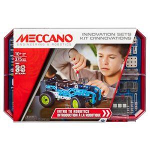 Meccano Erector, Intro to Robotics Innovation Set, STEAM 375 Parts Building Kit