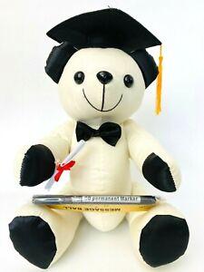 30Cm Congratulation Graduation Bear With Pen Signature Message Bears
