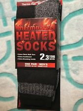 UNISEX THERMO-FEEL NAVY/GRAY HEATED SOCKS X-TRA THICK 2.3 TOG SIZE 10-13