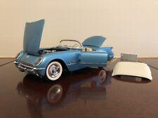 New ListingFranklin Mint 1955 Chevrolet Corvette Pennant Blue Mint in Box Attention