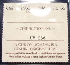 1965 Canada 50 Cents ICCS PL GEM UV 036