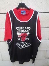 Maillot basket t-shirt CHICAGO BULLS vintage STARTER NBA Dynasty World Champions