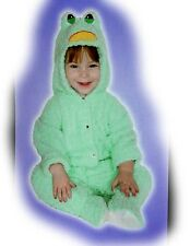 Baby Girl/Boy Frog Costume Green Plush Chenille Body Suit Size 6-12 months