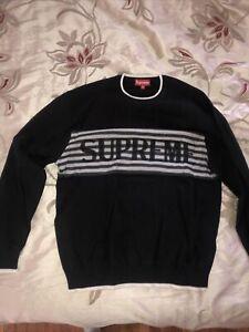Supreme Chest Stripe Sweater Size M