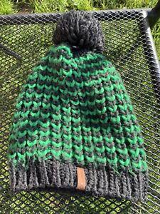 Kids Green & Grey Crane Sports Bobble Hat