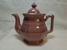 Vintage Tea Pot - Fred Roberts China Company - Made In Japan - Mauve And Gold