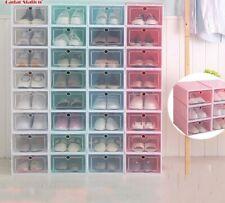 Stackable  Shoe Box Foldable Shoes Rack Attachable Storage Box Organizer Case