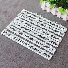 6 tlg Buchstaben Zahlen Alphabet Ausstecher Tortendeko-Marzipan-Fondant