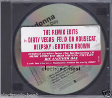 MADONNA Die Another Day THE REMIX EDITS PROMO CD dirty vegas felix da housecat