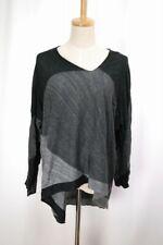 Plantation ISSEY MIYAKE Gray Cotton/Linen Sweater Long Sleeve Top 216 0312