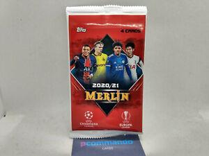 2020-21 Topps Merlin Chrome Uefa Football Soccer Cards Sealed Blaster Pack 2021