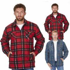 Uomo Giacche Imbottito Trapuntato Foderato Lumberjack Quadri Inverno Camicia