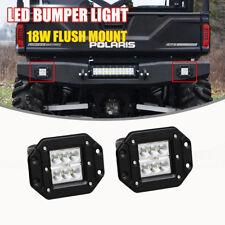18w Flush Mount LED Light Bar Backup Bumper For Honda Pioneer 1000 700 UTV ATV