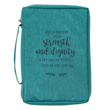 She is Clothed with Strength and Dignity Bible Cover Large