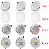 Dimmable Led Recessed Ceiling Panel Down Light 3W 5W 6W AC220V Cool Warm White