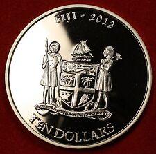 2013 FIJI TAKU DESIGN .999% 5 OZ SILVER BU ROUND BULLION COLLECTOR COIN