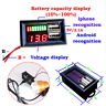 1x LED 12V Lead Acid Battery Capacity Indicator Voltage Meter Dual USB Charge US