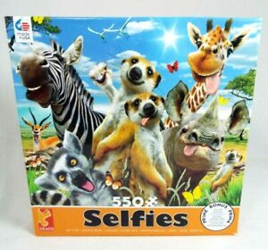 NEW CEACO ANIMAL SELFIES - AFRICAN SUN - 550 PIECE JIGSAW PUZZLE W/ POSTER