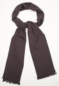 """Battisti Napoli NWT Burgundy Blue Plaid Pattern Wool Silk Scarf 80"""" X 12"""""""